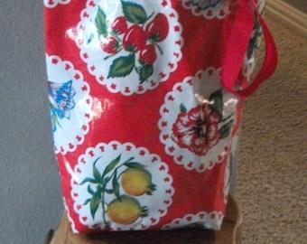 Reversible Oilcloth Market Bag