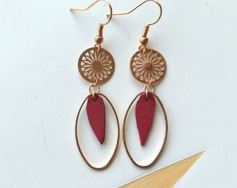 """Earrings """"Pink feather."""