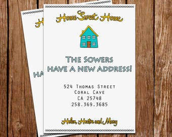 We Moved Card Moving Announcment New Address Card New Address Announcment Cards