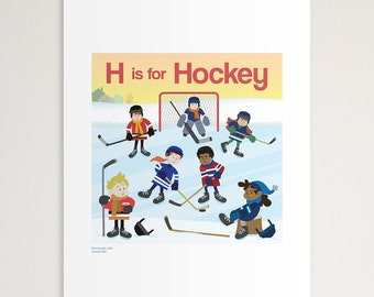 "H is for Hockey 11""x14"" Print"