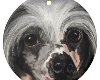 Chinese Crested Ornament