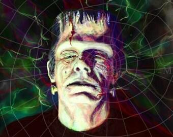 Glen Strange as Frankenstein's Monster by Mikey Sevier