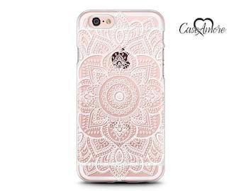 iPhone 6 case, iPhone 6s case, iPhone 7 case, iPhone 6 Plus case, Clear Rubber case, Galaxy S7 case, Samsung Galaxy cases, Henna Mandala Art