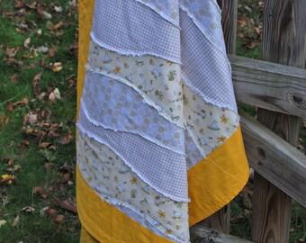 Handmade Wavey Baby Quilt