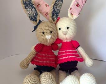 Amigurumi bunny; coelho em crochet