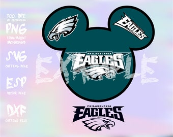 Mickey heads Sport logo football team Philadelphia Eagles ,clipart,SVG,PNG 300dpi ,ESP vector