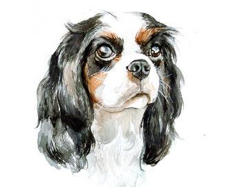 Custom Watercolor painting of dog portrait dog - portrait Watercolor painting Custom pet portrait