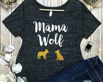Mama Wolf Shirt - Mama Bird Shirt - Mama Shirt - Gifts For Mom - Mom Shirts - Mom Life Tee - Momma Wolf Shirt - Mommin aint easy