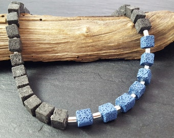 Chain lava black blue