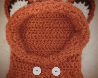 Fox hoodie crocheted Etsy