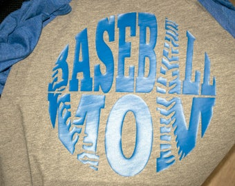 Baseball Mom Raglan Shirt