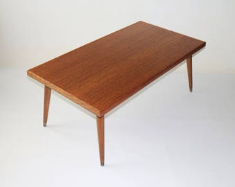 Restored 1960s vintage minimalist coffee table