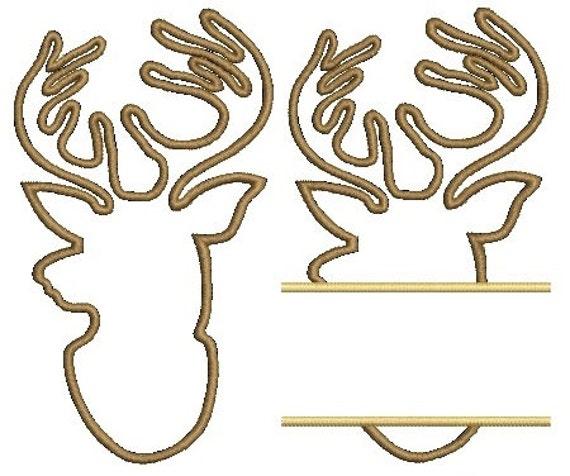 deer head applique design free