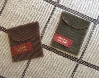 pair of vintage dude pouches!