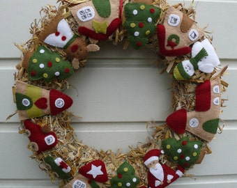 Christmas Wreath - PDF pattern - download