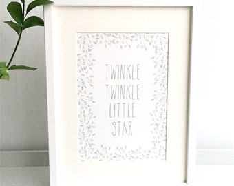 Little Star Nursery Print