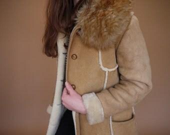 Vintage Ardney Suede Lamb- Pure Virgin Wool Coat