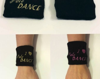Wrist cuffs with embroidery / Black White Red / Wristband / Wrist Wrap / Tattoo cover up / Wrist cuff / Fitness / Pole Dance / Dance /