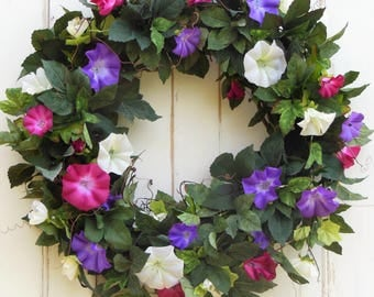 Summer Wreath, Wreath for Spring, Spring Wreath, Artificial Wreath, Front Door Wreath, Wreath Door, Wreaths, Mothers Day Wreath,Spring Decor
