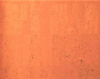 Cork Fabric (US Supplier) - Peach - Vegan - EcoFriendly Leather Alternative - Made in Portugal - Choose Your Cut