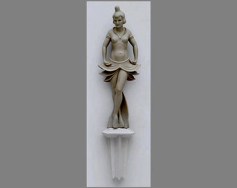 Dancing girl in the art deco style, plaster of paris