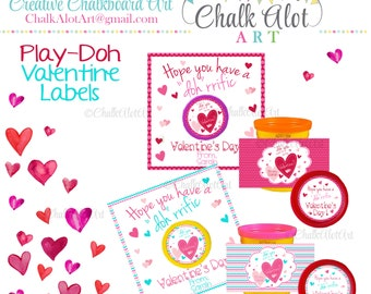 "Hope you have a ""Doh""rrific Valentine's Day, ""Doh"" you want to be my Valentine Favors, Valentine's Day. Valentines - Instant Download"