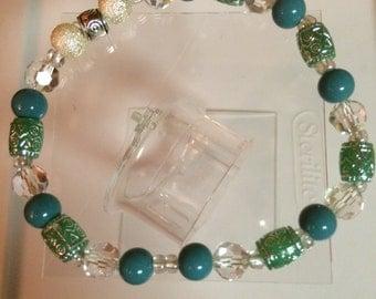 Teal pearl bracelet