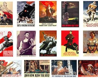 1:32 scale model Soviet wartime propaganda war posters WW2
