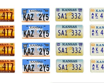 scale model car Kansas license tag plates