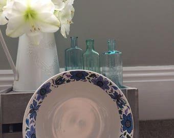 Dark Floral Serving Bowl
