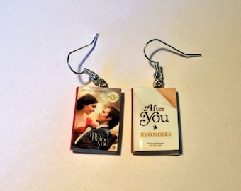 Jojo Moyes mini earrings books Me before you, After you