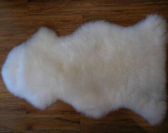 Pure White Organic Sheep Skin