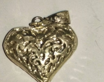 Silver Antique Heart Shaped Pendant