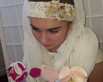 Vintage inspired teen/adult head band