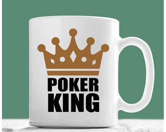 Poker Mug, Poker King, Poker Coffee Mug, Poker Gifts, Gifts For Poker Players, Poker Player Gifts, Poker Gift Ideas, Gifts For Poker Lovers