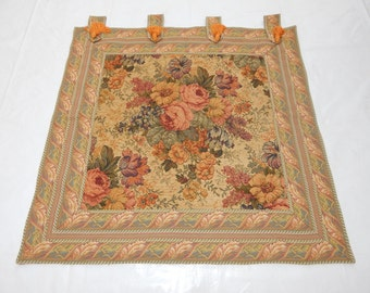 Vintage French Beautiful Flowers Tapestry 083