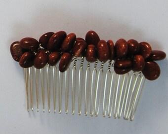 Goldstone Crystal Hair Combs