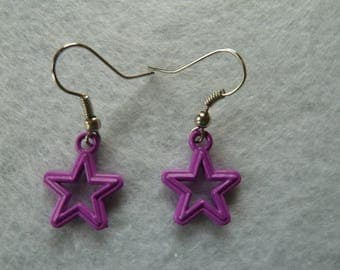 Purple Star earring