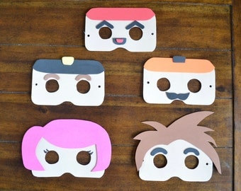 ROBLOX PARTY MASKS - Set of 15, Roblox Foam Sheet Masks, Roblox Mask, Roblox Birthday, Roblox Party Favors, Roblox Favors