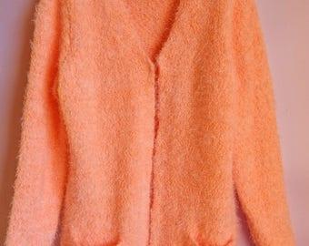 Orange cardigan | Etsy