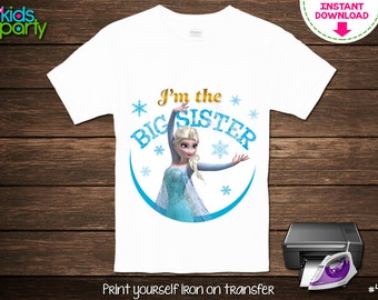Items Similar To Frozen T Shirt Transfer Instant Download