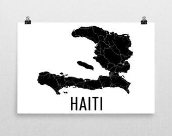 Haiti Map, Haitian Art, Map of Haiti, Haitian Decor, Haiti Gift, Haiti Print, Haiti Poster, Haiti Wall Art, Haitian Gifts, Haiti Map Art