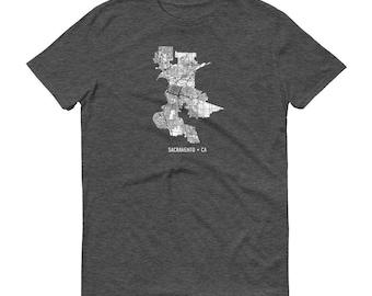 Sacramento Shirt, Sacramento CA, Sacramento TShirt, Sacramento Gift, Sacramento Map, Sacramento Tee, California Shirt, California Map