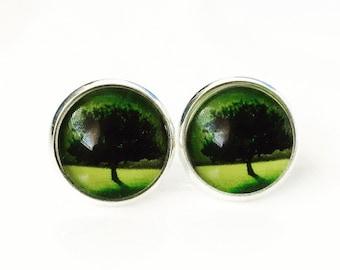 The 'Aya' Glass Earring Studs