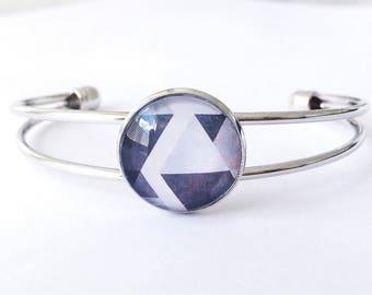 The 'Michelle' Glass Cuff Bracelet