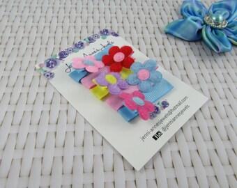 Flower Alligator Clip Set