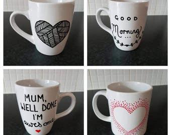 Hand Drawn Personalised Mug
