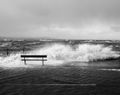 West Kirby Storm Surge / Bench Wave Crash (2014) | Fine Art Photographic Print