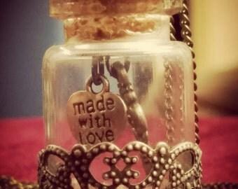 The Key to Universal Love Strawberry Quartz Necklace