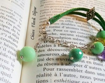 Bracelet for girls with natural stones